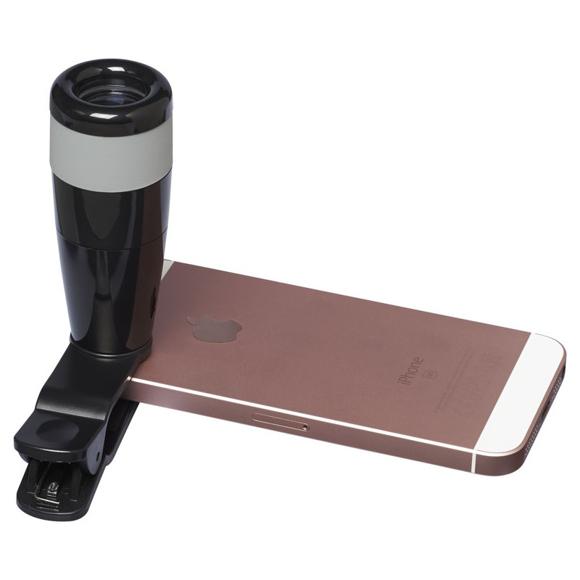 Smartphone Telescope Lens in black on phone