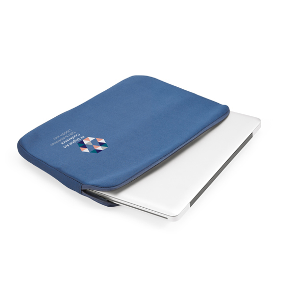 softshell laptop zip up case branded with a logo