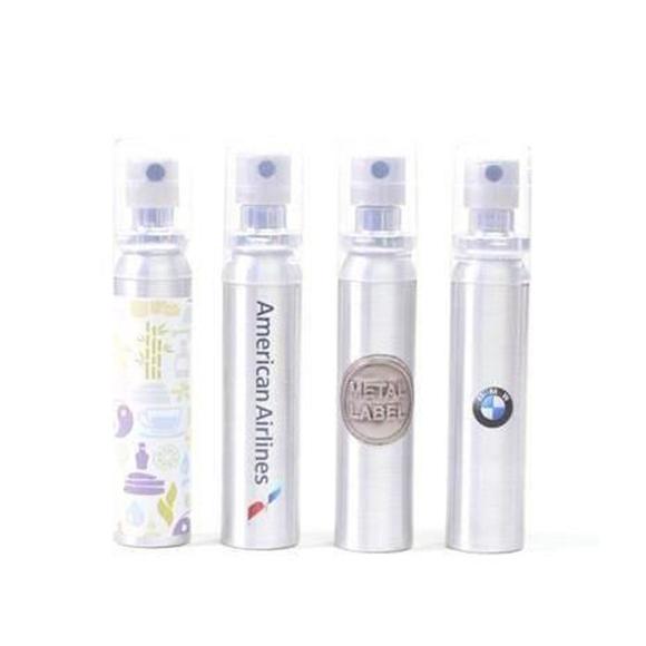 4 spray bottles of tea tree with full colour branding