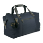 Capitol Duffel in navy with black leather handle s