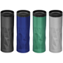 4 geometric torn travel mugs in different colours