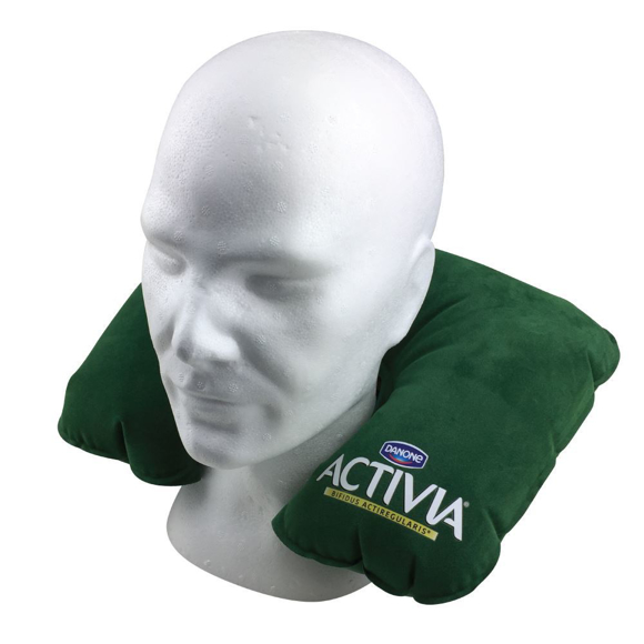 green travel pillow