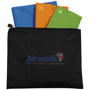black pouch with 3 coloured bags