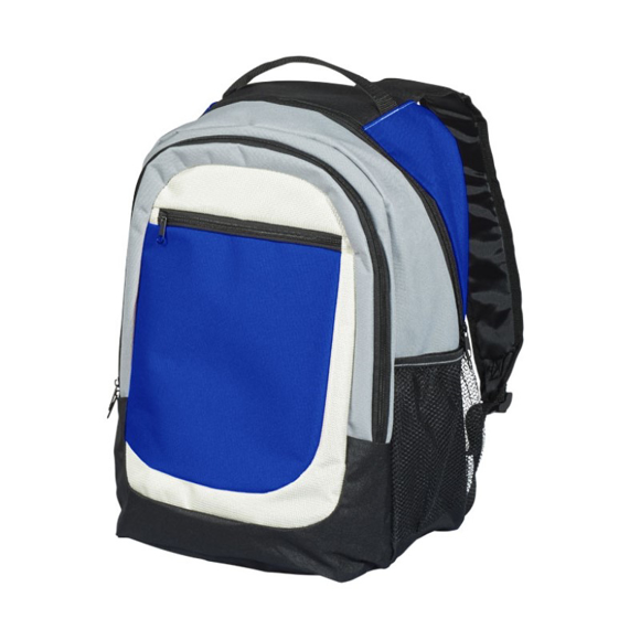 Tumba Backpack in blue with black, grey and white details