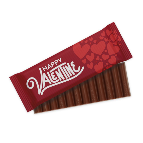 Chocolate Bar with 12 fingers in branded wrapper