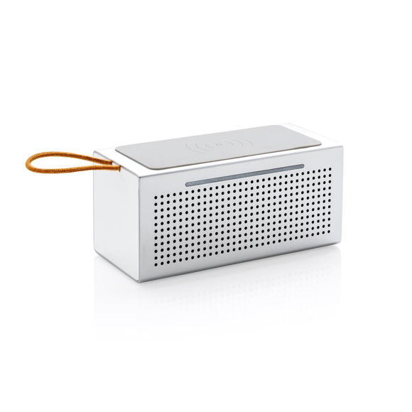 white vibe wireless charger speaker