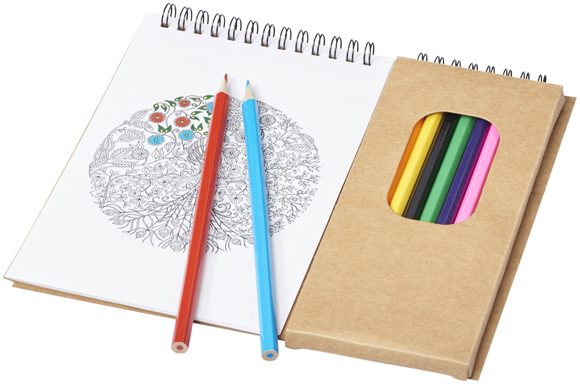 vincent colouring set with colouring pad and pencils