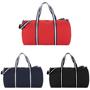 Weekender Duffel Bag in red, navy and black