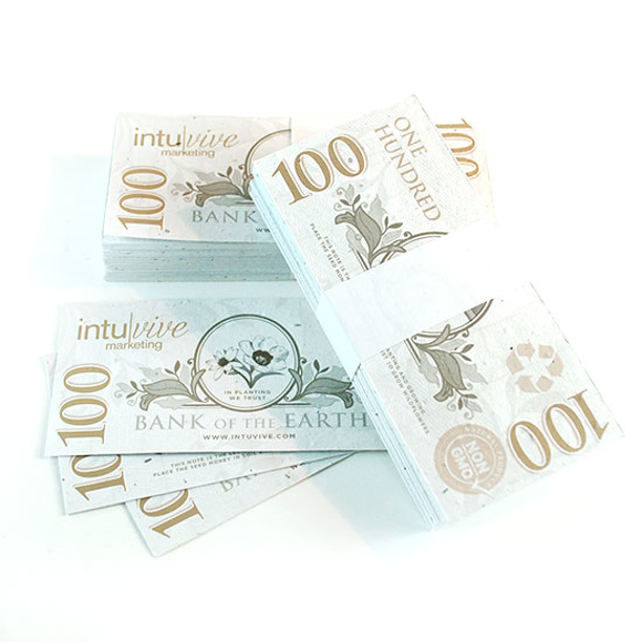 Picture of £100 Seed Paper Bank Notes