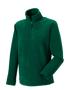 1/4 zip outdoor fleece in green with cadet collar and pockets