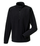 1/4 zip microfleece in black with cadet collar and zip protector
