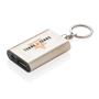 1.000 mAh keychain powerbank in gold with 2 colour print logo