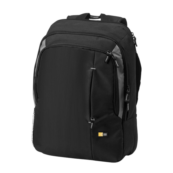 """Reso 17"""" Laptop Backpack in black with grey panels"""