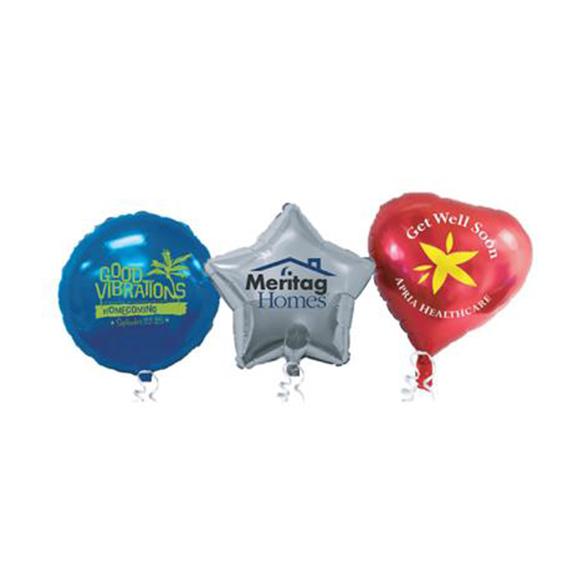 three 18 inch foil balloons