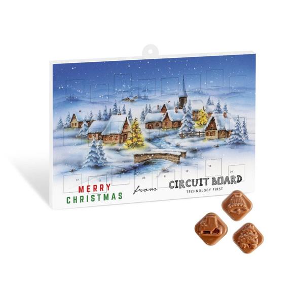 Advent Calendar with Festive Design