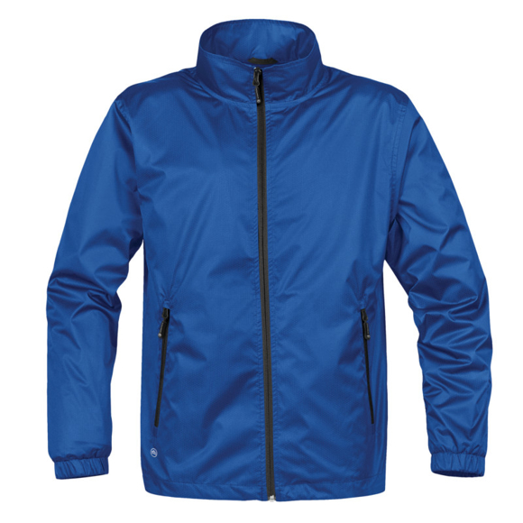 Axis Softshell Jacket in blue with black full zip and 2 zipped pockets