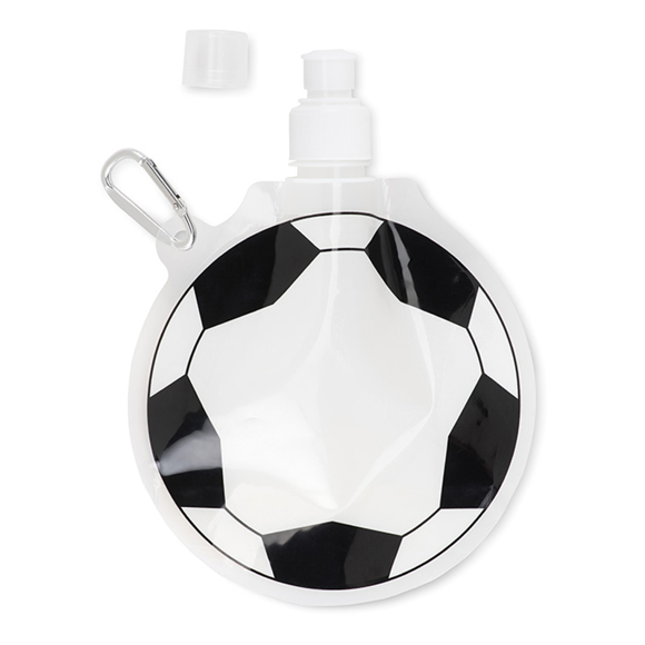Round Foldable Water Bottle With Football Pattern