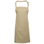 Bib Apron with Pocket in natural with pocket and combined pen slot and ties