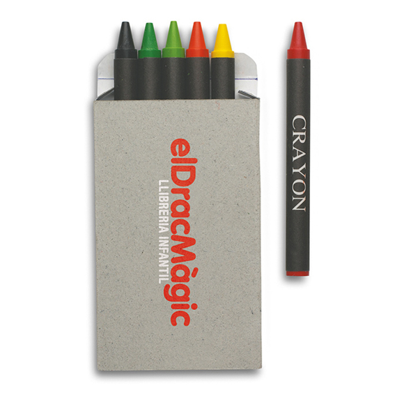 brabo crayons in cardboard box