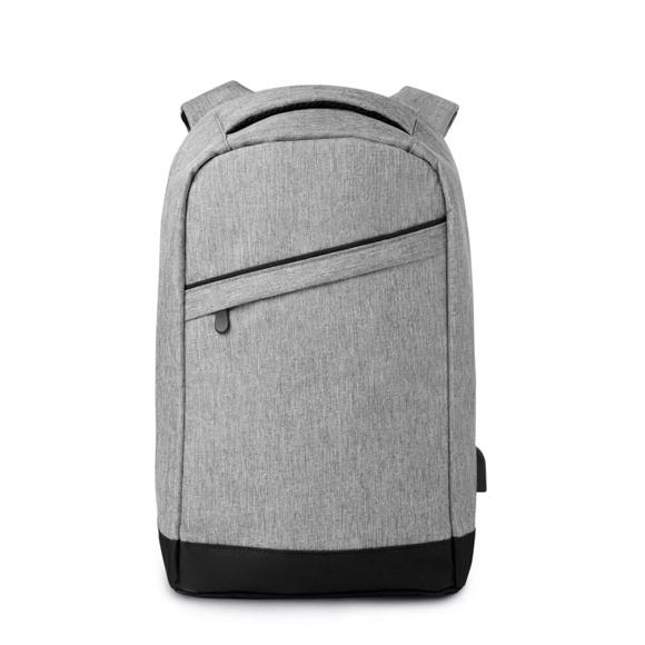 Berlin Charging Laptop Rucksack in grey