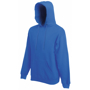 Classic Hoodie in blue with drawstring  and double fabric hood