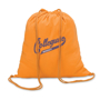 Colored Bag in orange with 2 colour print logo