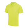 Cool Polo in lime green with matching coloured buttons