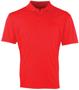Coolchecker Pique Short Sleeve 3 button placket polo in red