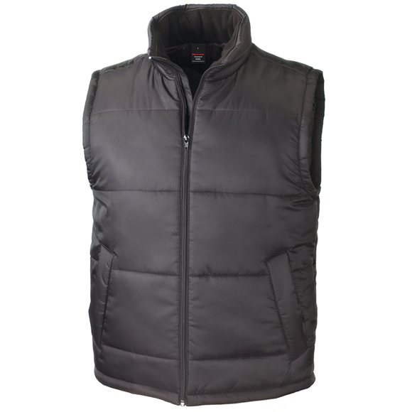 Core Bodywarmer in black with full zip and 2 pockets on the outside
