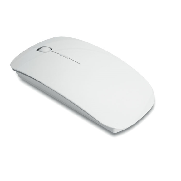 Sleek compact wireless computer mouse in white