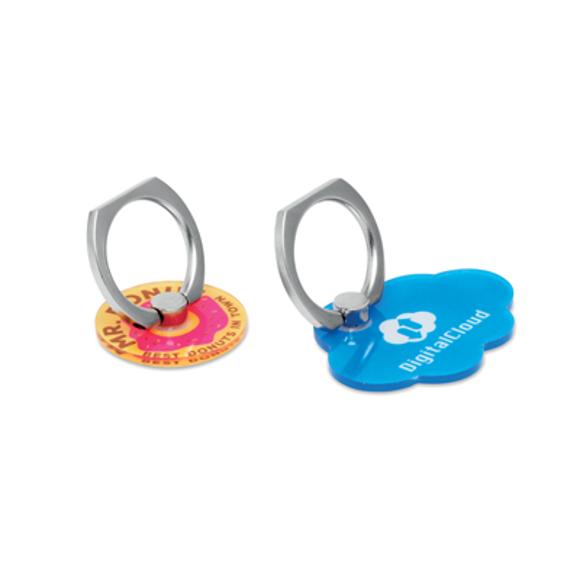 Custom shape acrylic phone ring in full colour print