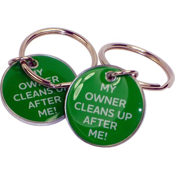 green dog collar tags