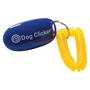 blue dog clicker with logo