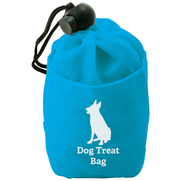 Dog Treat Bag in blue with 1 colour print logo
