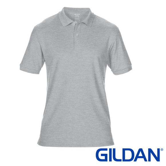 DryBlend Sport Short Sleeve Polo Shirt in grey with 2 colour match buttons