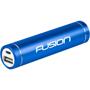 Blue metallic cylindrical power bank