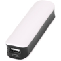 White power bank with black trim