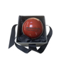 Engraved Full Size Cricket Ball in red presented in a gift box with ribbon
