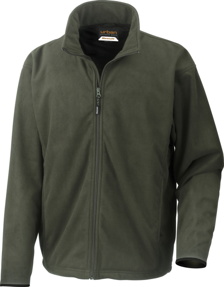 Extreme Climate Stopper Fleece in green with full length zip
