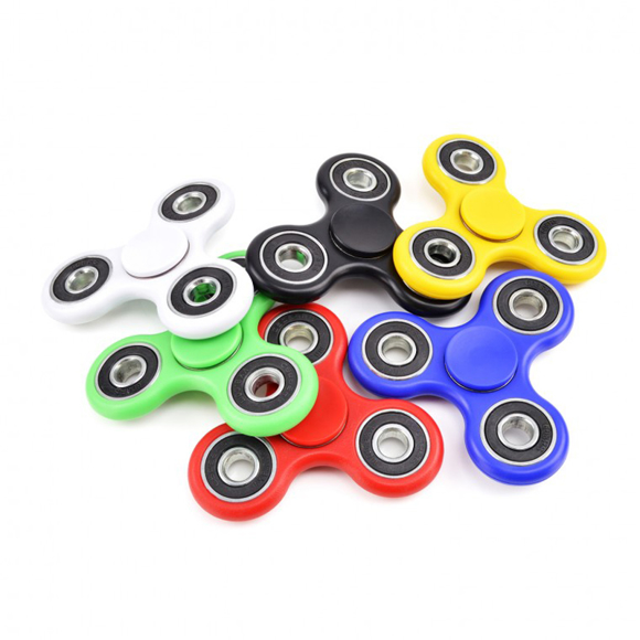 fidget spinners in a range of colours