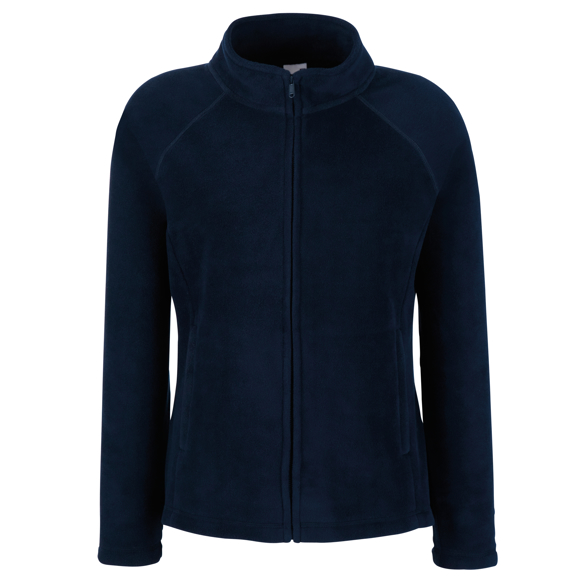 FOTL Lady-Fit Full Zip Fleece in navy with cadet collar and self-coloured zips