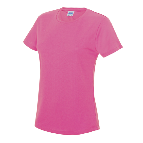Girlie Cool T in pink with crew neck