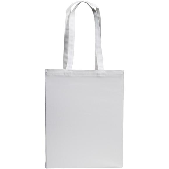 white cotton shopper bag with long handles