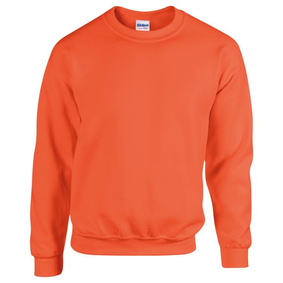 Heavy Blend Adult Crew Neck in orange with crew neck
