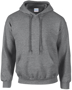 Heavy Blend Hooded Sweatshirt in grey with double lined hood, pouch pocket and drawstrings