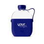 Water bottle with branded silicone sleeve