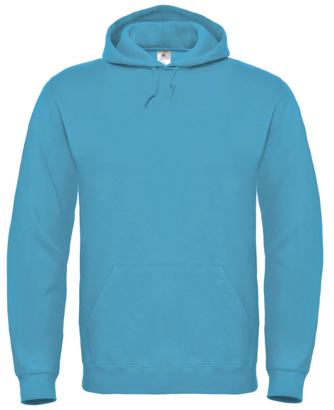 ID 003 Hooded Sweatshirt in light blue with pouch pocket, hood and drawstrings