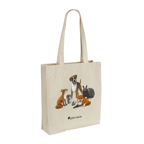 Illustrious Canvas Bag in natural with full colour print