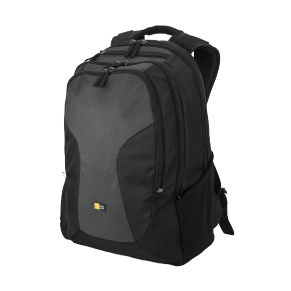 """InTransit 15.6"""" Laptop And Tablet Backpack in black and grey"""