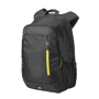 "Jaunt 15.6"" Laptop Backpack in black with yellow details"